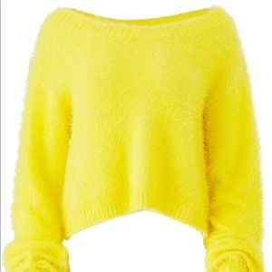 Some days Lovin' sunny yellow sweater medium